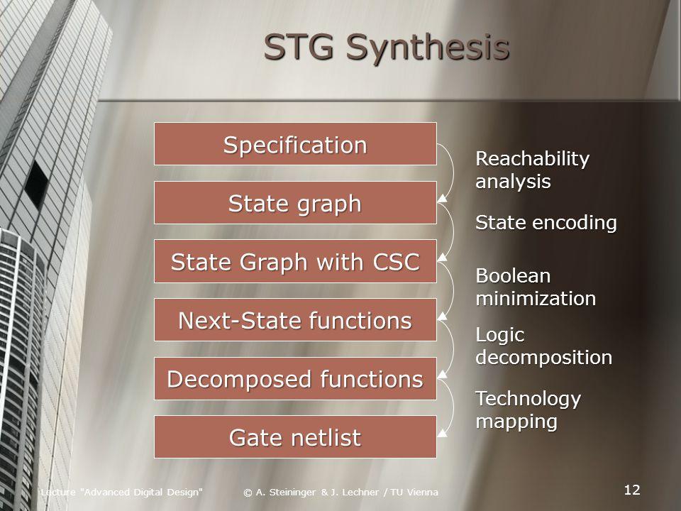 Lecture Advanced Digital Design © A. Steininger & J.