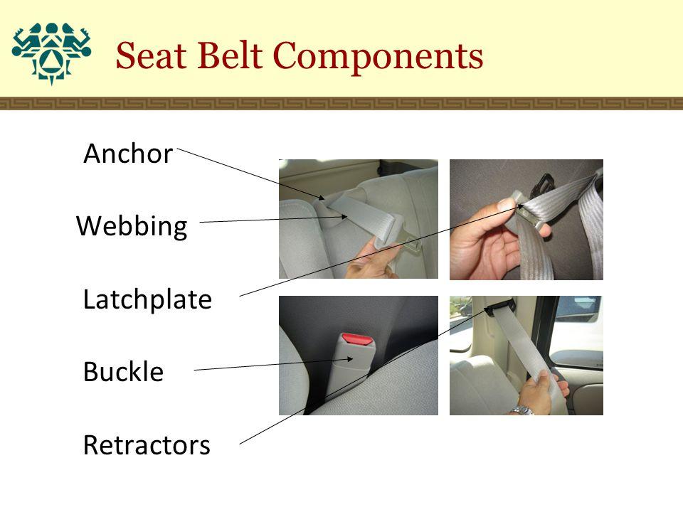 Seat Belt Components Anchor Webbing Latchplate Buckle Retractors