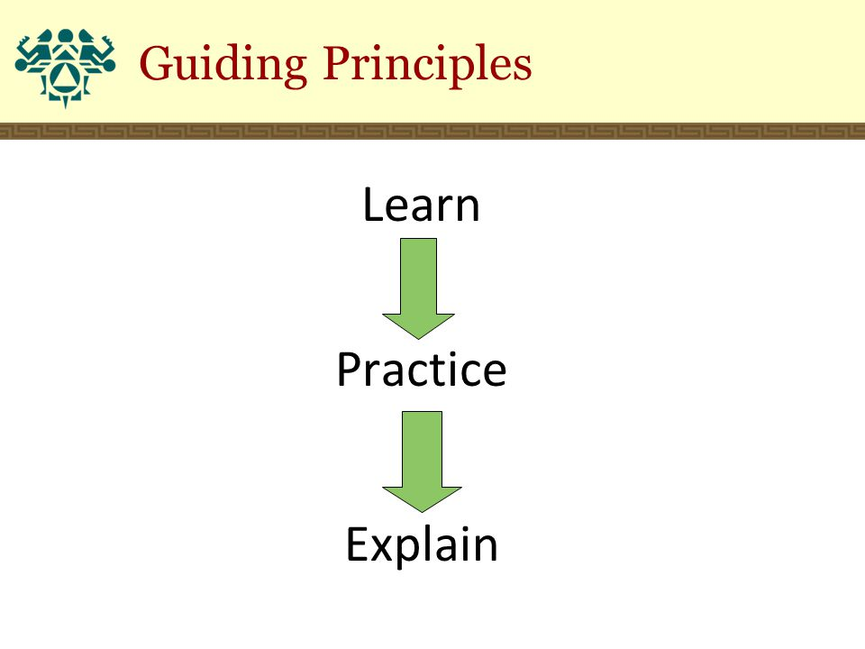 Guiding Principles Learn Practice Explain