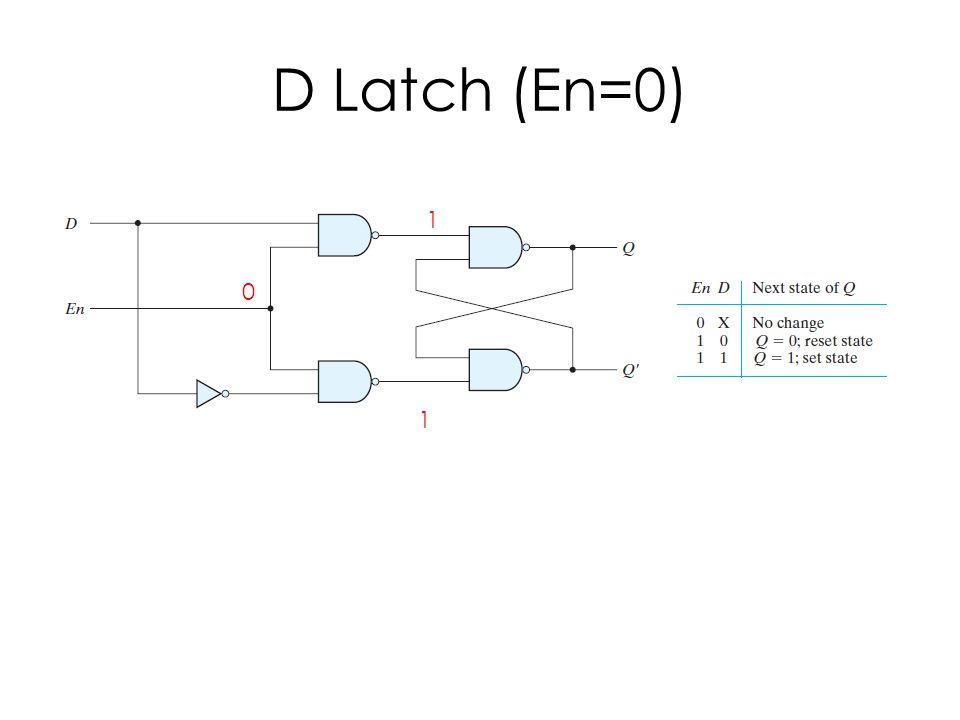 D Latch (En=0) 0 1 1