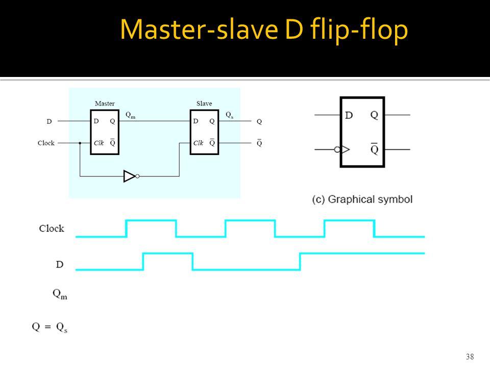 Master-slave D flip-flop 38