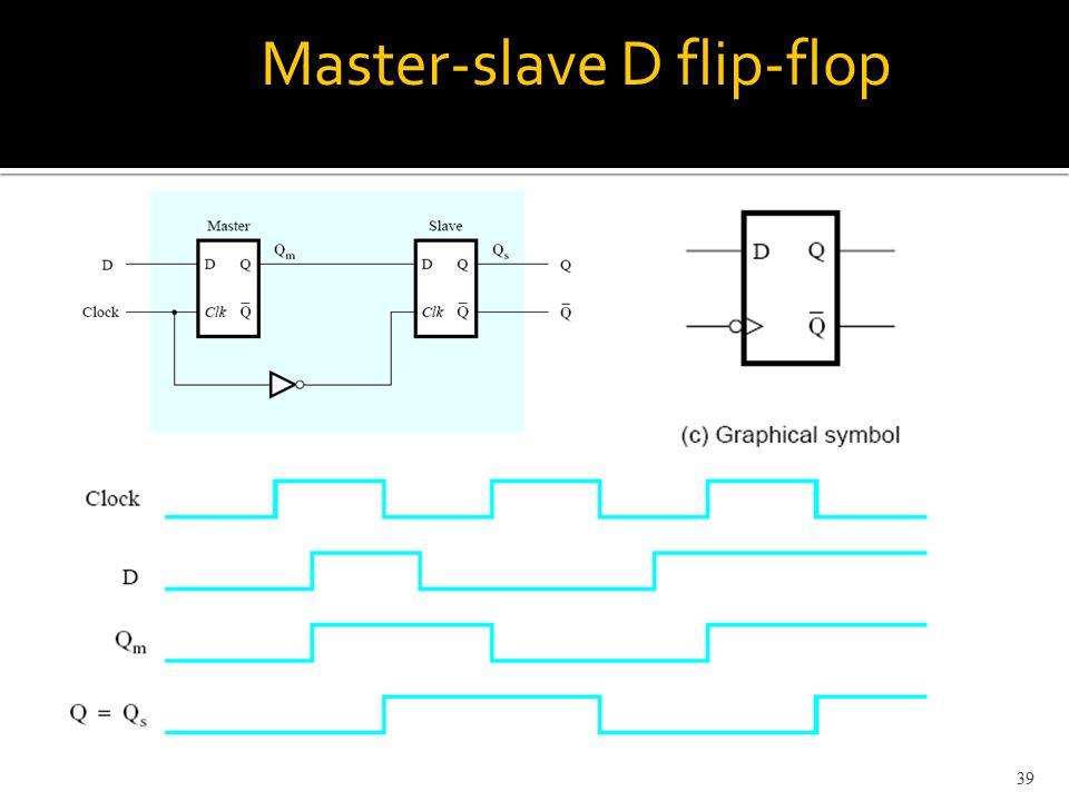 Master-slave D flip-flop 39