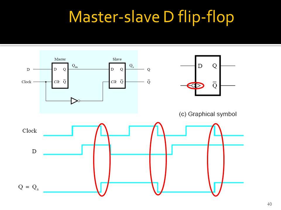 Master-slave D flip-flop 40
