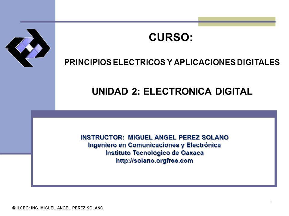 1 CURSO: PRINCIPIOS ELECTRICOS Y APLICACIONES DIGITALES © ILCEO: ING.
