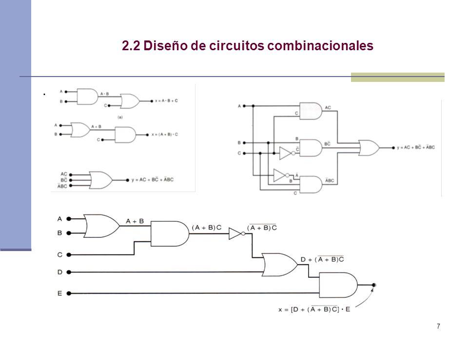 7 2.2 Diseño de circuitos combinacionales.