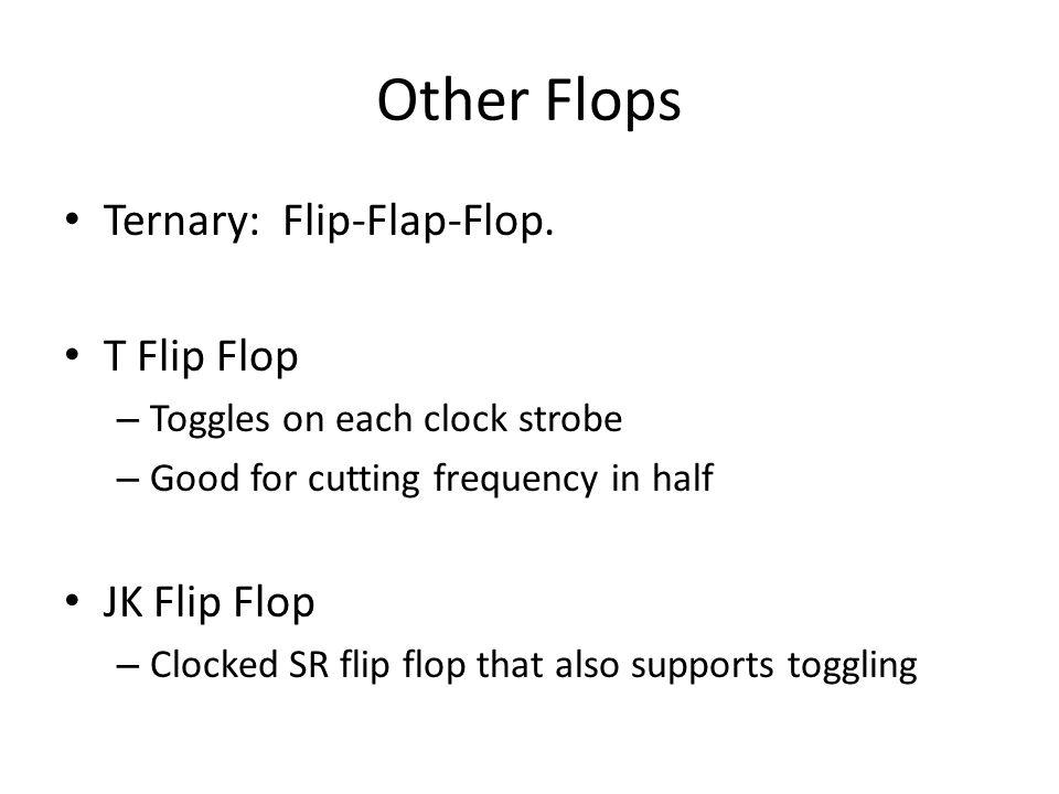 Other Flops Ternary: Flip-Flap-Flop.