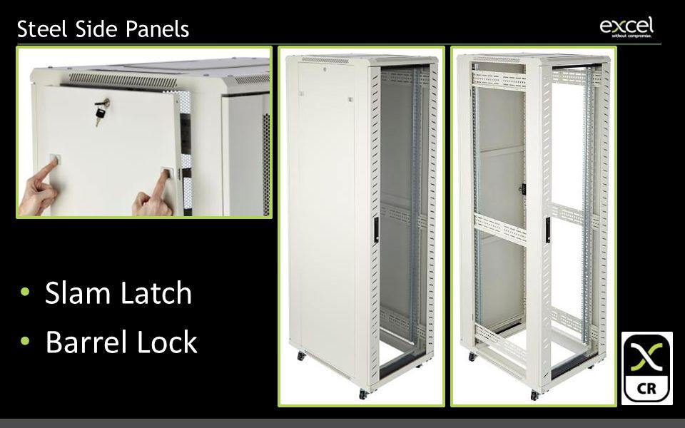 Steel Side Panels Slam Latch Barrel Lock