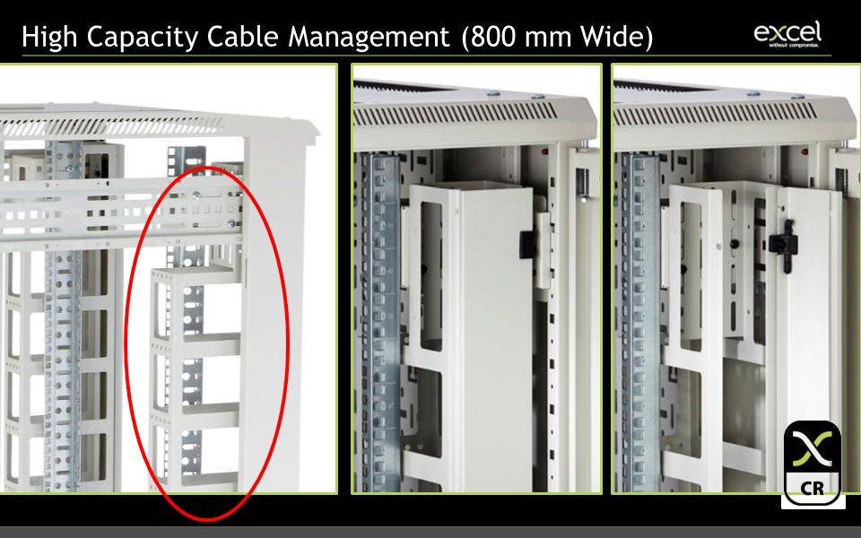 High Capacity Cable Management (800 mm Wide)
