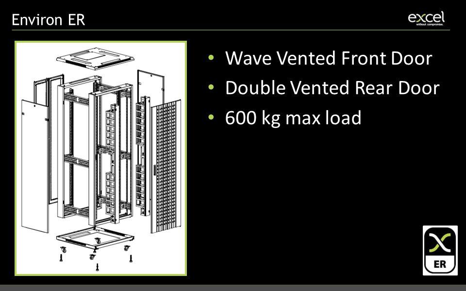 Environ ER Wave Vented Front Door Double Vented Rear Door 600 kg max load