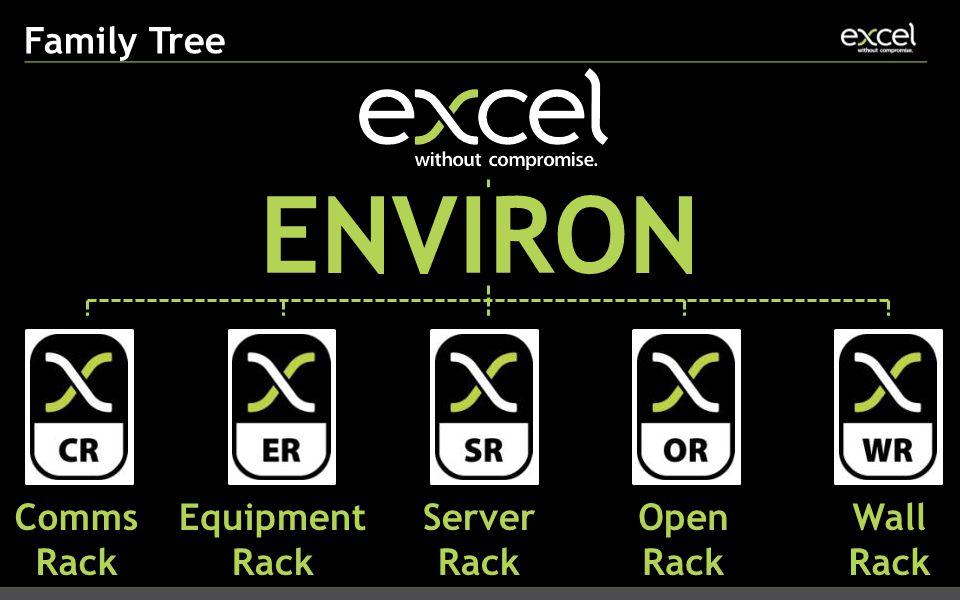 Family Tree ENVIRON Comms Rack Equipment Rack Server Rack Open Rack Wall Rack