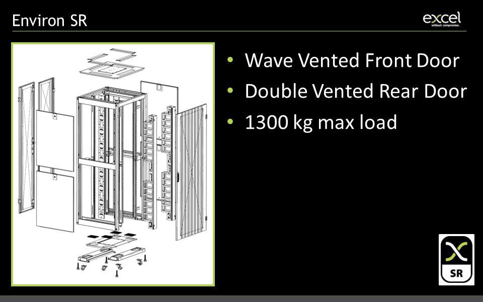 Environ SR Wave Vented Front Door Double Vented Rear Door 1300 kg max load
