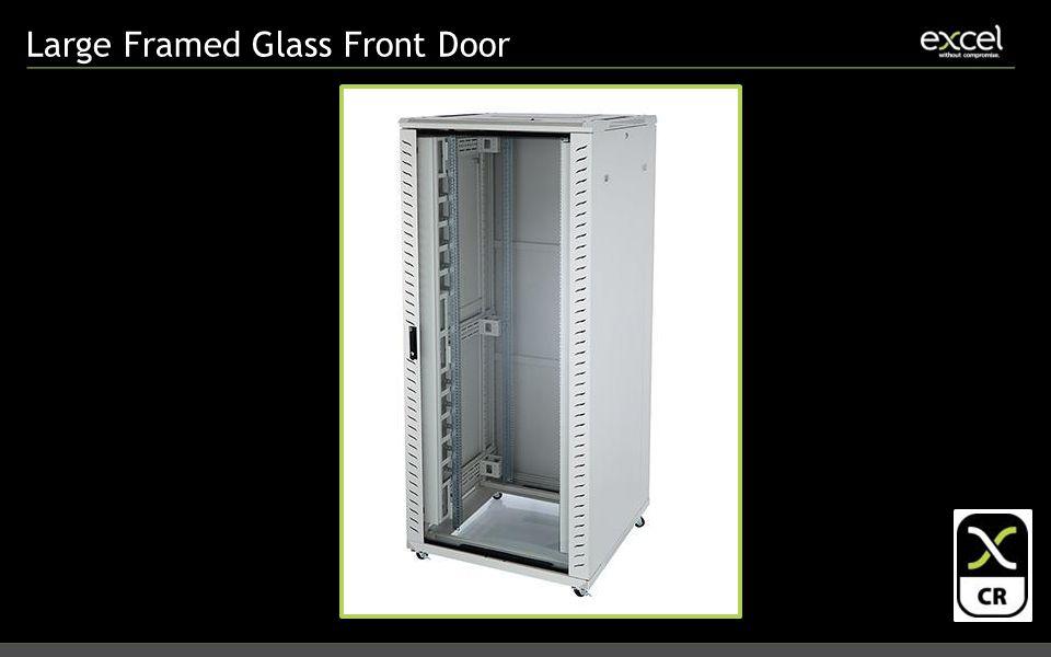 Large Framed Glass Front Door