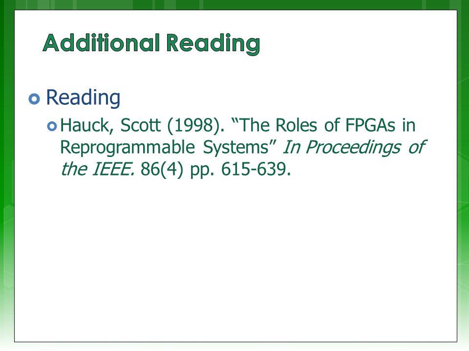  Reading  Hauck, Scott (1998).