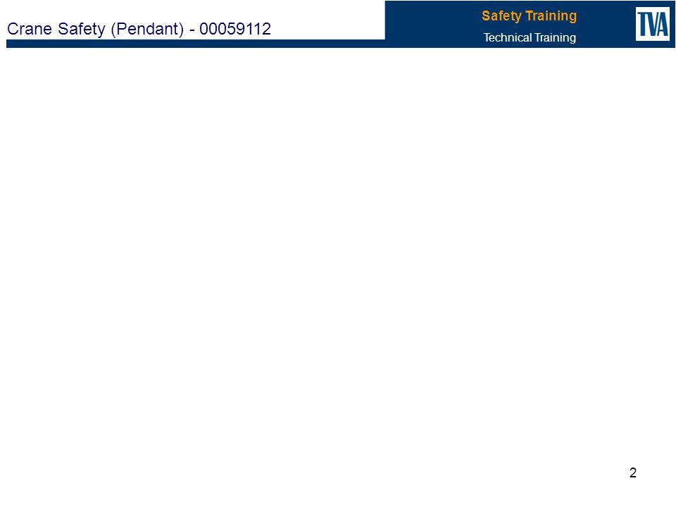 Crane Safety (Pendant) - 00059112 Safety Training Technical Training 2