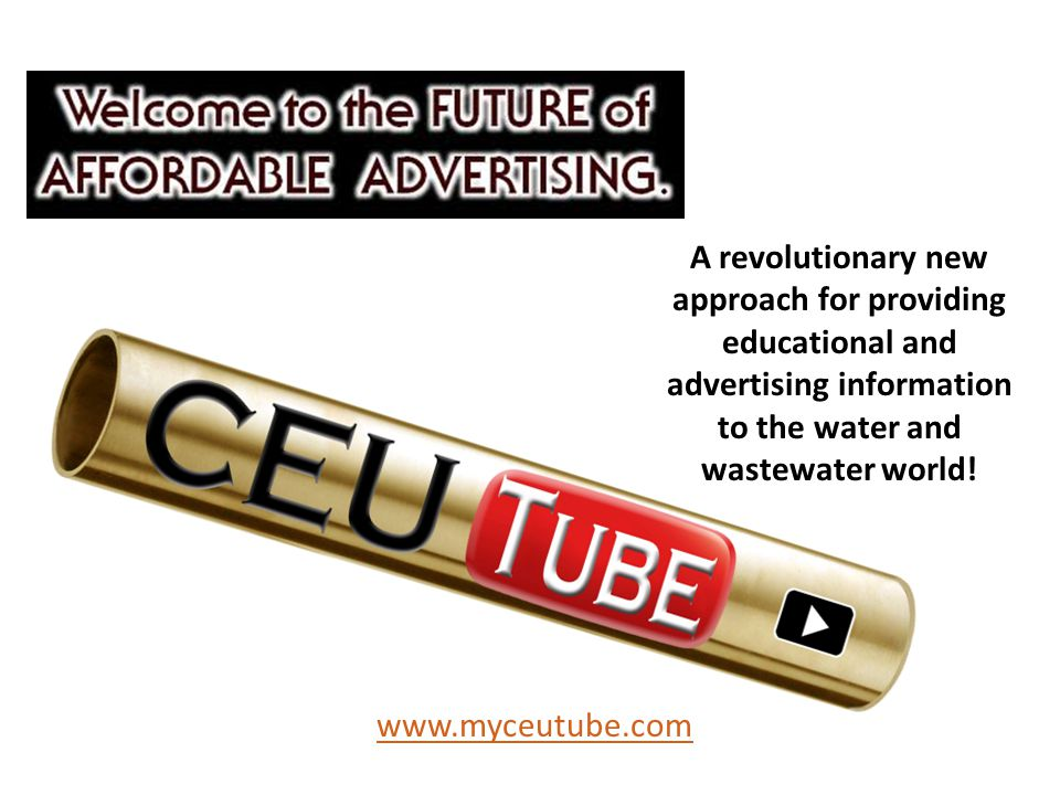 A revolutionary new approach for providing educational and advertising information to the water and wastewater world.