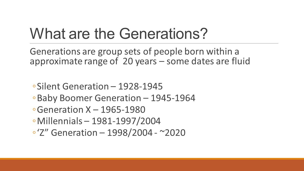 Caveats to the next few slides… These are generalizations, use accordingly.