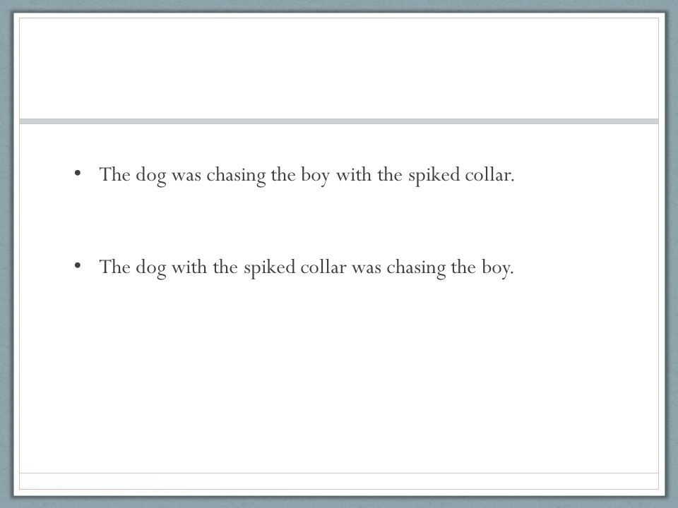 The dog was chasing the boy with the spiked collar.