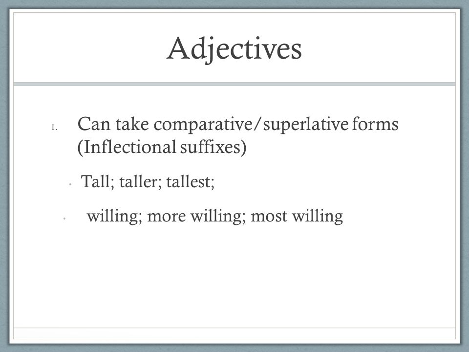 Adjectives 1.