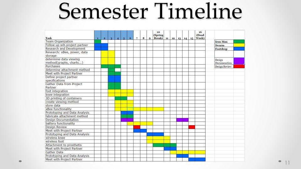 Semester Timeline 11