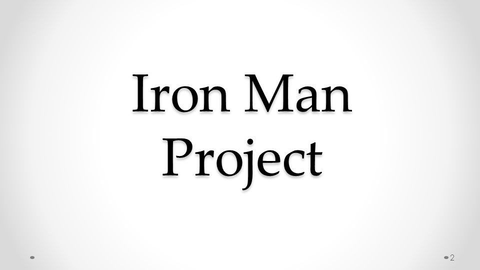 Iron Man Project 2