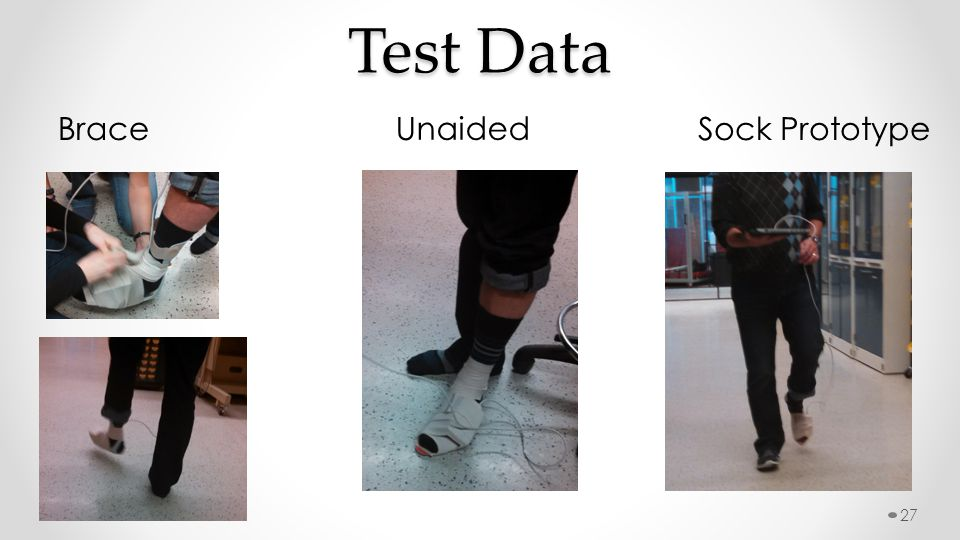 Test Data Brace Unaided Sock Prototype 27