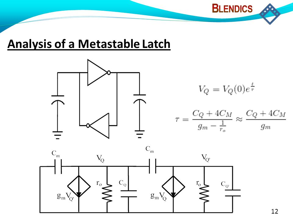 12 Analysis of a Metastable Latch