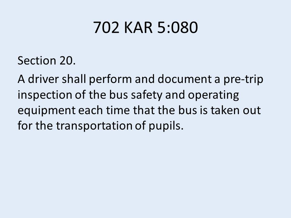 702 KAR 5:080 Section 20.
