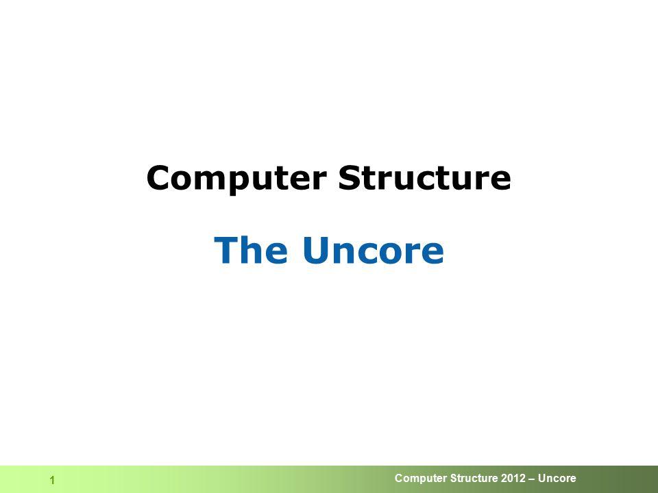 Computer Structure 2012 – Uncore 32 DRAM