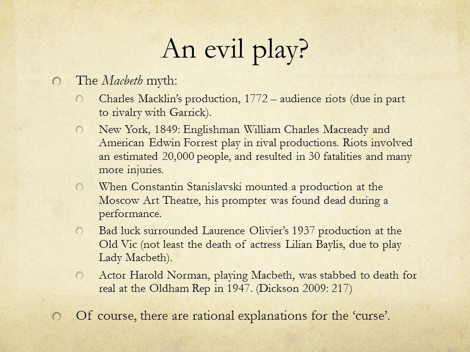 An evil play.