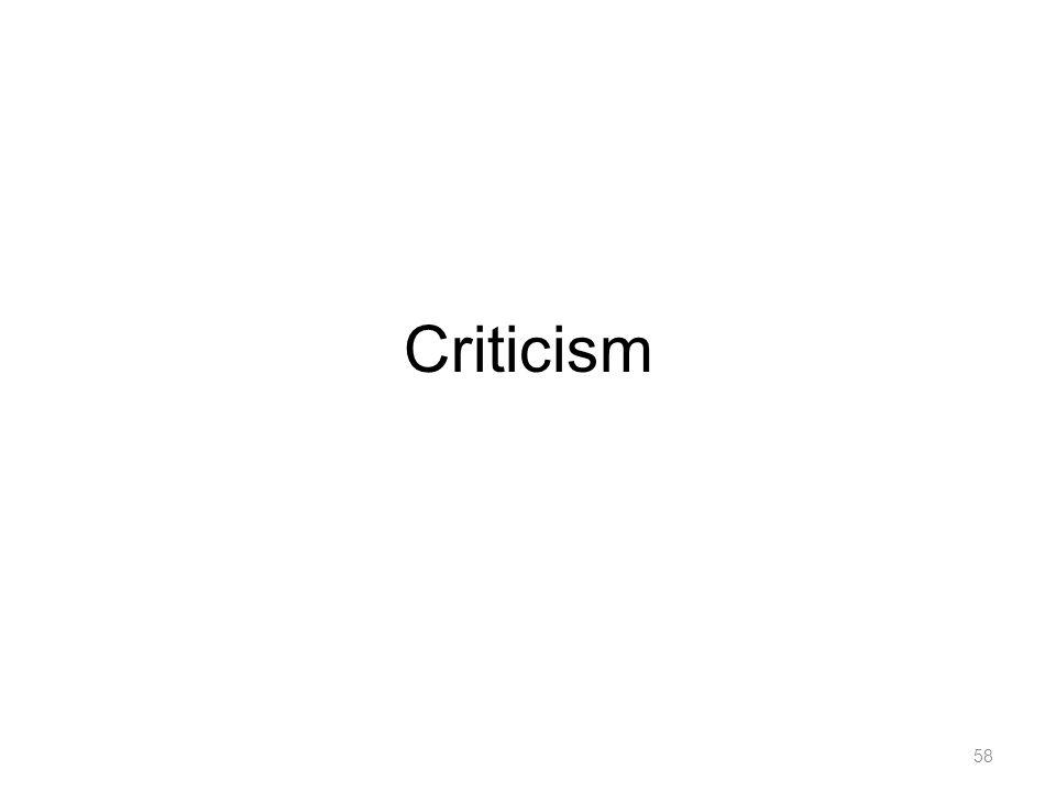 Criticism 58