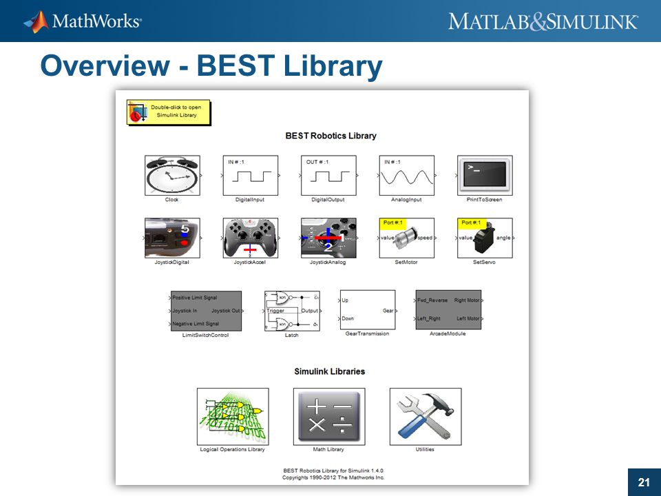21 Overview - BEST Library