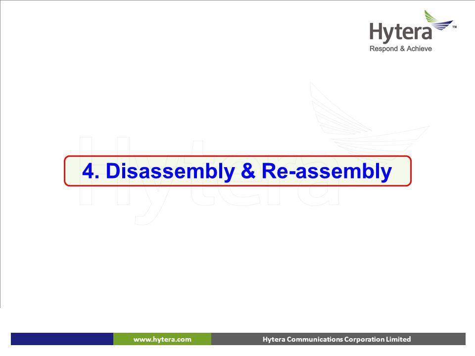 Hytera Communications Corporation Limitedwww.hytera.com 4. Disassembly & Re-assembly