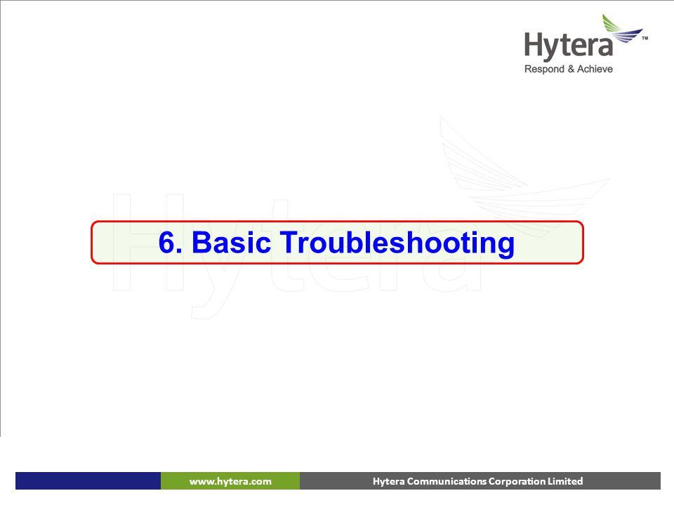 Hytera Communications Corporation Limitedwww.hytera.com 6. Basic Troubleshooting