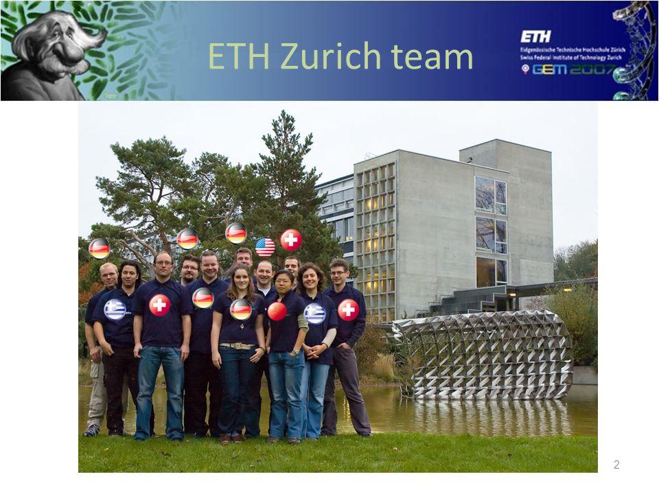 ETH Zurich iGEM Team 2 ETH Zurich team