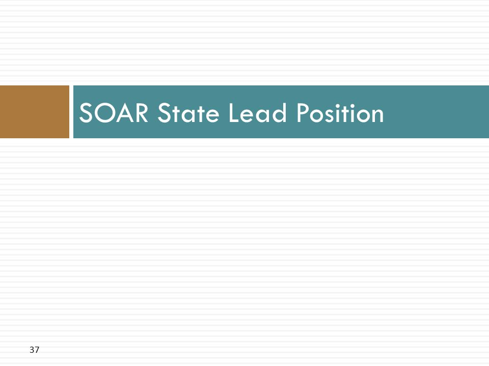 37 SOAR State Lead Position