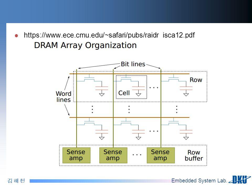김 해 천김 해 천 Embedded System Lab. https://www.ece.cmu.edu/~safari/pubs/raidr_isca12.pdf