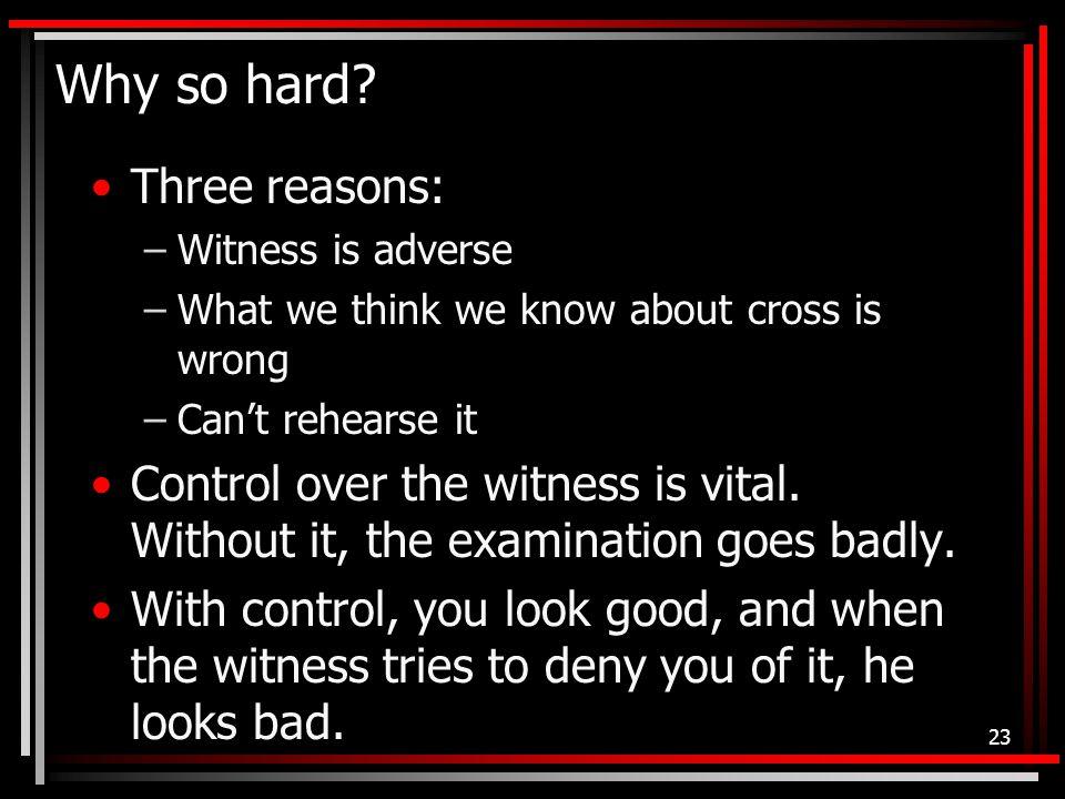 Why so hard.