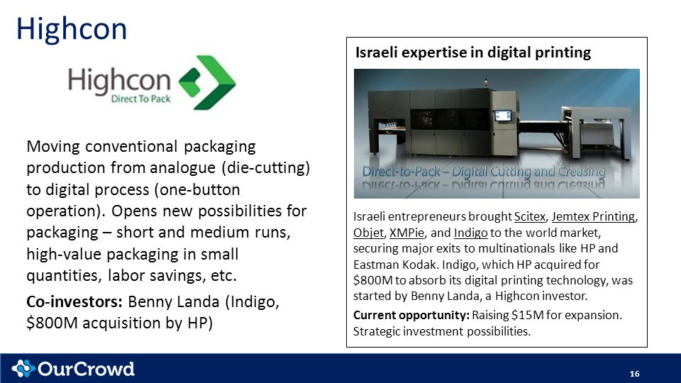 Highcon Moving conventional packaging production from analogue (die-cutting) to digital process (one-button operation).
