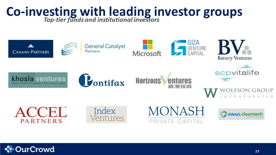 23 Co-investing with leading investor groups Top-tier funds and institutional investors