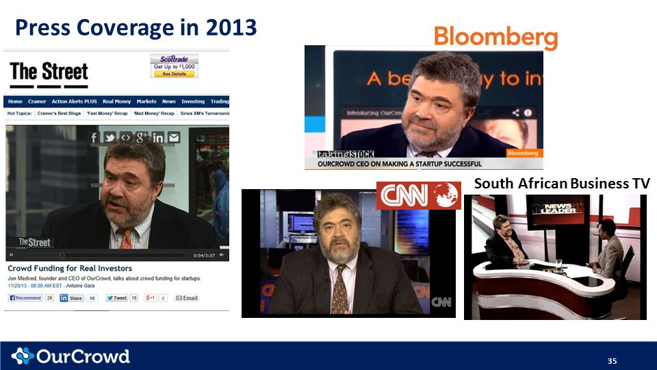 35 Press Coverage in 2013 South African Business TV