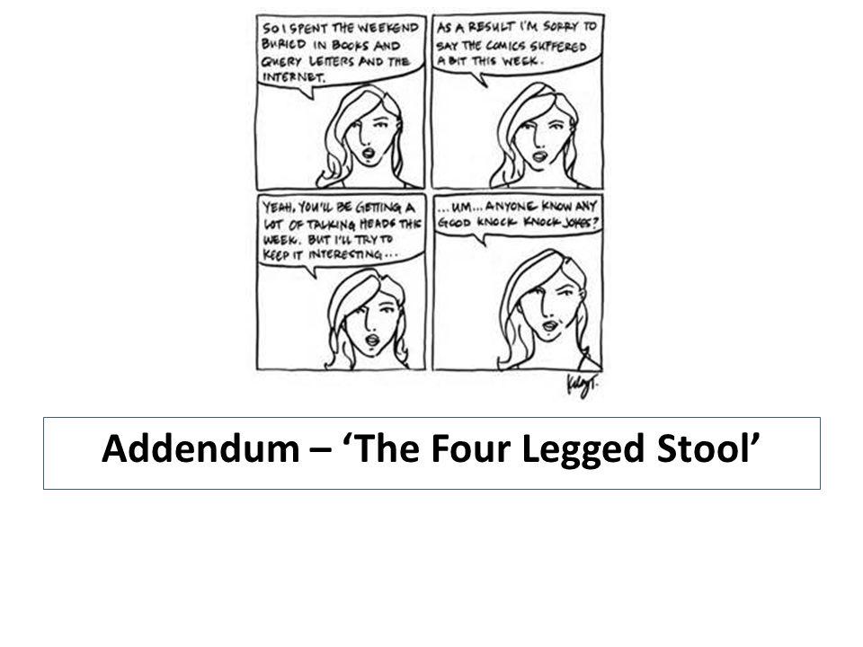 Addendum – 'The Four Legged Stool'