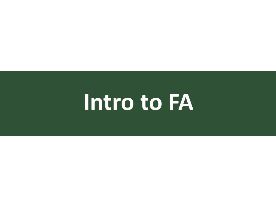 Intro to FA