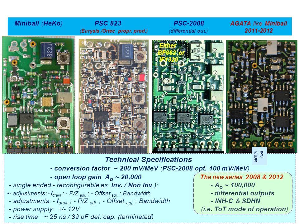 Miniball (HeKo) PSC 823 PSC-2008 AGATA like Miniball (Eurysis /Ortec propr.