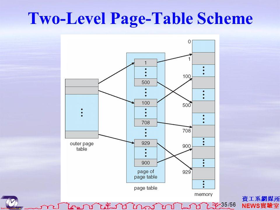 資工系網媒所 NEWS 實驗室 Two-Level Page-Table Scheme /5635