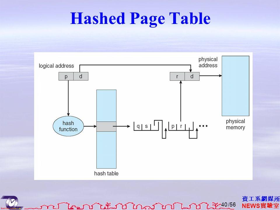 資工系網媒所 NEWS 實驗室 Hashed Page Table /5640