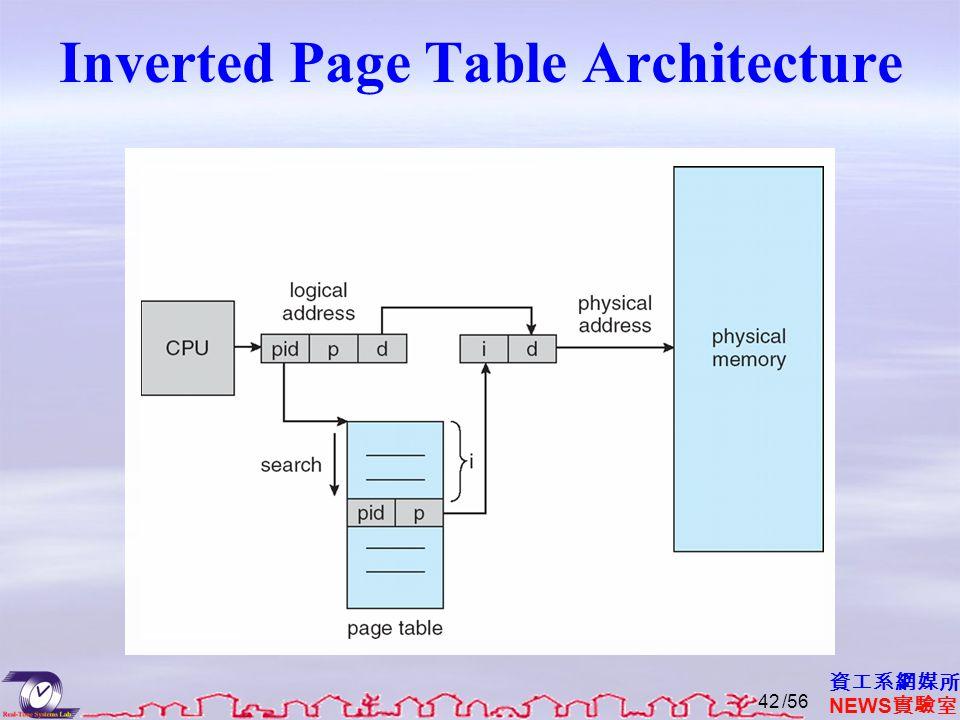 資工系網媒所 NEWS 實驗室 Inverted Page Table Architecture /5642