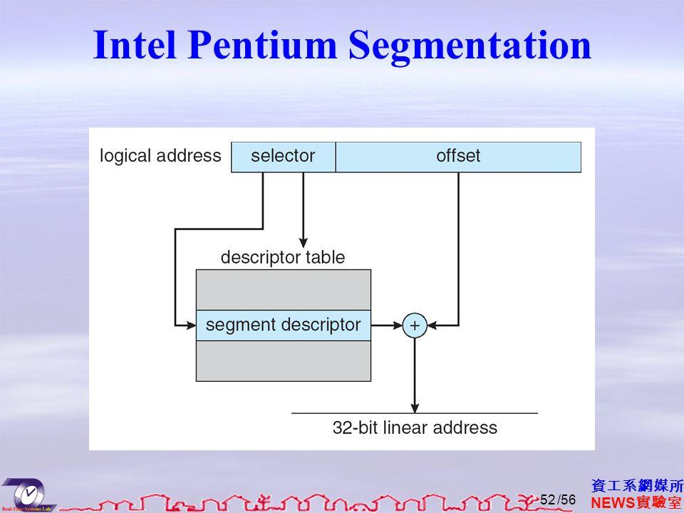 資工系網媒所 NEWS 實驗室 Intel Pentium Segmentation /5652