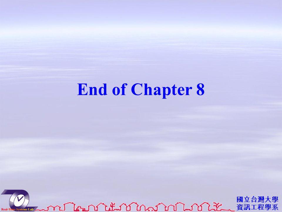 國立台灣大學 資訊工程學系 End of Chapter 8