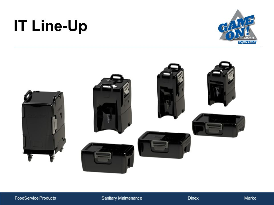 FoodService Products Sanitary Maintenance Dinex Marko IT Line-Up