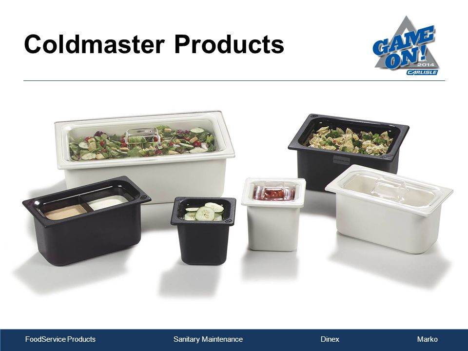 FoodService Products Sanitary Maintenance Dinex Marko Coldmaster Products